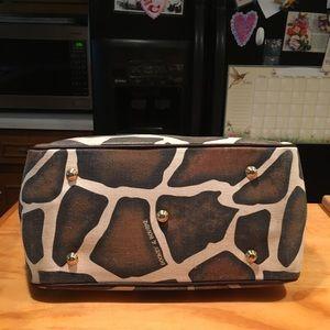 Dooney & Bourke Bags - Dooney Giraffe Design Monogram Leather Canvas Tote
